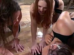 pissing lesbians Farrah honey and denisa heaven