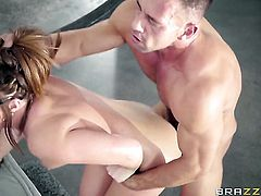 Johnny Castle uses his hard cock to bring Redhead Maddy Oreilly to the edge of nirvana