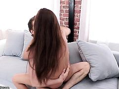 Brunette vixen fucking like a sex crazed animal