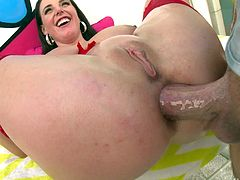 Gorgeous Angela White wants that erection between her buttocks!