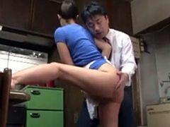 Horny balls banging his hot Asian maid