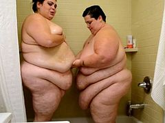 Showertime for two SSBBW sluts