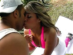 Blonde with phat ass and trimmed pussy fucks like theres no tomorrow in anal sex action with hard cocked dude Loupan before she takes it deep down her throat