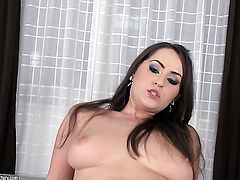Brunette with big jugs is good at backdoor fucking