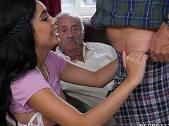 Now that they've taken their pills, these creepy old men can fuck a much younger woman. She opens her legs to get eaten out, and each old fucker will get his cock sucked. Thank the doctor for this medicine.
