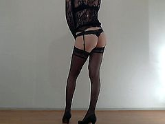 CD - strip sexy legs high heels stockings