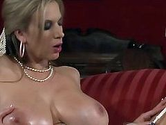 Big Tits MILFs Play with a Dildo