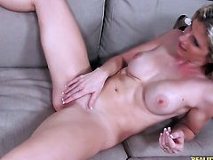 Blonde hussy Brianna Ray gets unbelievable lesbian pleasure to Cory Chase in girl-on-girl action