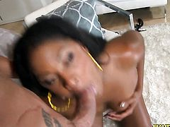 Marco Banderas fucks unbelievably sexy Natalie Evanss mouth just like mad