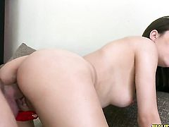 Preston Parker with bald cunt gets her mouth destroyed by throbbing worm