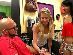 Blonde Esmi Lee finds her skillful hands fucked over and over agaian by her sex partner