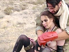 Visit official Brazzers Network's HomepageFemale sergeant gets huge penis down the butt hole in crazy outdoor shag with a private which seems to please her with more than enough moments of ass fucking