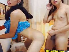 Must watch this two wild shemale couple suck and fuck each other on live free webcam show. These shemale duo is extremely hot. With superb beauty and sexiness and graceful slutiness equipped with their gigantic stallion cock they indeed can have one hell of a show.