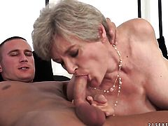 Mature with huge hooters learns more about hard sex from hot bang buddy