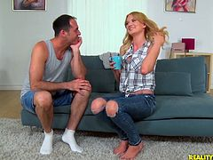 Two sex-starved dudes fuck all holes of nasty chick Bree Haze