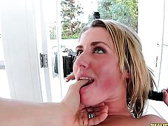Erik Everhard uses his hard fuck stick to bring Blonde Sheena Shaw with bubbly bottom and shaved twat to the height of pleasure after throat job