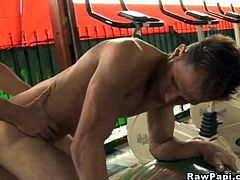 See this wild latin hunk getting his face slapped with his friends juicy hard cocks. They do it in a passionate way at first and cant get enough with it until they become wild. Deep throat hard cock sucking and wild gay asshole bareback action with body cumshots in the end