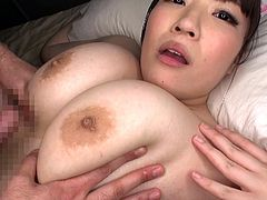 Feeling a stiff cock sliding between her huge boobs make her feel so horny and special. Asian men love, her because her chubby body is soft and she lets them manhandle it, and use it to jerk off. She feels so happy while she serves dicks with her tits, waiting for them to cover her with cumshots