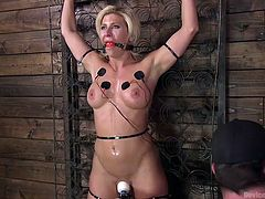 If you like to enjoy hot, sensual female bodies in hard metal bondage, then don't wait and join Device Bondage. We provide a lot of sexy babes with round titties and appetising butts for you here. Relax and enjoy how do they get a generous portion of bdsm love.