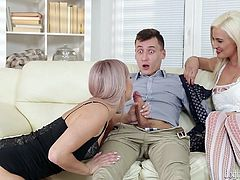 I promised to surprise my boyfriend and I did it really unusual. I blindfolded him, unbuttoned his pants, pulled his penis out and... he was thinking, that I'm going to suck his cock, but he was wrong. Join and enjoy the unpredictable plot twists!