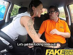 Fake Driving School Advanced horny lesson messy creampie