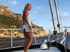 Katy Sweet is a nasty blonde who wants to be fucked on a boat