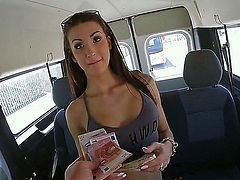 We see the return of the gorgeous Susi Gala as she enters the bang bus. She immediately gets naked and gets down to business after she gets the money.