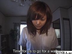 Bizarre JAV via a defiled Japanese collegegirl who rests bottomless and upside down for enema play followed by tampon insertion and a shameful walk outside with a toy stuck to her