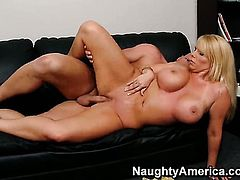 Christian stretches alluring Karen Fishers love hole with his rock hard man meat to the limit, Updat