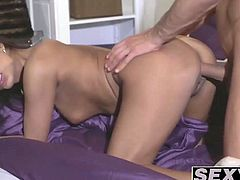 Dazzling babe Tera Joy smashed doggy style by her kinky hunk
