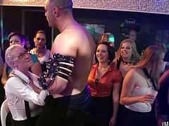 The unscripted nonstop CFNM amateur sex party.ladies suck cock, get fucked and engage in lesbian action, all to the throbbing beat of the party space, as the cum again and again.