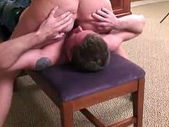 Mistress crushing my face with her ass