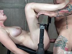 One of the hottest pornstars in the business, amazing Riley Nixon, was pushed to her sexual limits with deepthroat blowjobs and hard fucking in creative bondage device at the hands of bondage legend Matt Williams. Watch and enjoy!