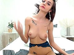 Solo masturbation action with hot Ann Marie