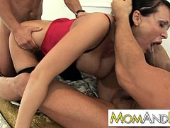 MFM threesome with hot MILF Mandy Bright