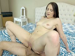 Her pussy is ready for a hardcore fucking. Her nubile vagina has been waiting to be pounded for so long. This cutie can suck cock so well even though she is new to porn. Watch her bounce on that big shaft.