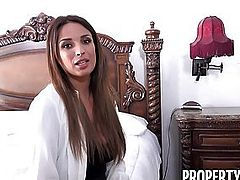 French Babe Anissa Kate Nails Horny Homeowner