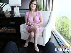 Krissy Lynn is one hot MILF you would fuck all night nonstop. You wouldn't even want to pull out your dick out of her, not even for one second. She has a perfect curvy body, big boobs, round ass, a super cute face and a wet and tight pussy. Get ready, you are about to have a lot of fun here :)