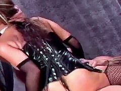 Awesome Ava Devine having her slippery throat smashed with a rod