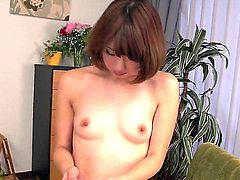 Sexy japanese porn diva Seira Matsuoka shows off her sexy nude body as she plays with vibrator for the camera. Exotic big ass woman stimulates her wet snatch and then takes lucky dude's dick.