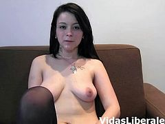Intense pussy drilling session with Pedro and Susana Mayo