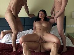 Three dicks is all cute brunette Roxy Panther wants to feel