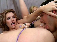 Hot pornstars Courtney Cummz, Sara Jay, Jamie Valentine show their love for crazy group sex at another party with lucky college guys. Big titted women with bubble butts get their snatches tongue fucked by curious boys.