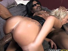 Shane Diesel and Jack Napier take this inexperienced slut to her limits by stuffing all their black sausage down her gullet. That white pussy wraps around each black cock with a death-like grip...