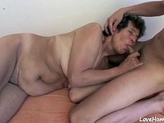 While he slams her delicious tunnel, this hottie will moan passioantely and eat him up.
