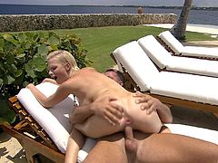 Tarra White hooks up with a couple of men for a threesome