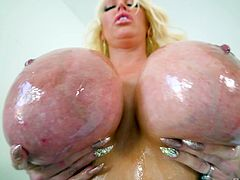 Hot face fucking session with blonde MILF Alura Jenson