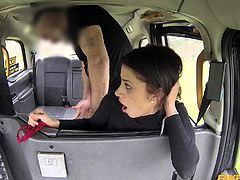 Myla gives up the pussy to our driver, the ever-horny John. After getting banged from behind, she gets upside-down and legs spread as wide as they can go, so he can drill her deep. We can only hope she'll cum back for more.
