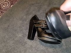 Cum over wifes work mary jane heels