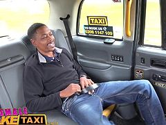 Female fake taxi black cock stretches drivers holes